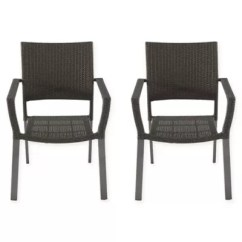 Wicker Patio Chair Set Of 2 Cover Rentals Timmins Chairs Benches Plastic Folding Bed Barrington Square Stacking