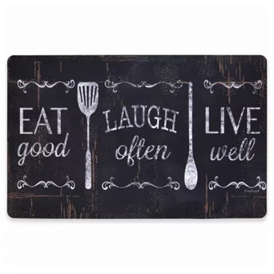 kitchen mat sets smudge proof stainless steel appliances mats accent rugs comfort floor bed bath beyond home dynamix designer chef 18 inch x 30 eat laugh