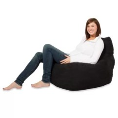 Foam Bean Bag Chair Antique Arm Fuf Memory With Black Microsuede Cover Bed