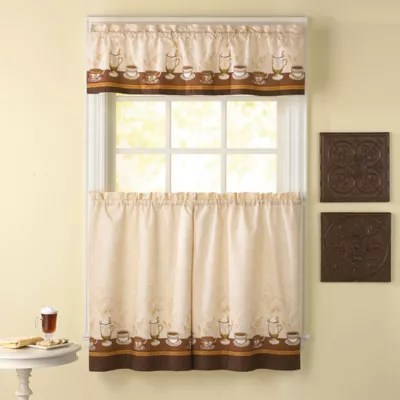 kitchen window valances best stores bath curtains bed beyond cafe au lait curtain tiers and valance