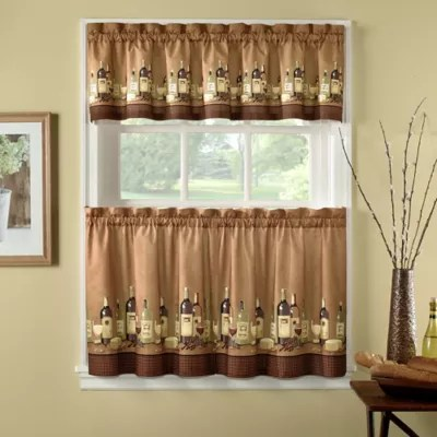 kitchen window valances drop leaf table and chairs bath curtains bed beyond wines curtain tiers valance