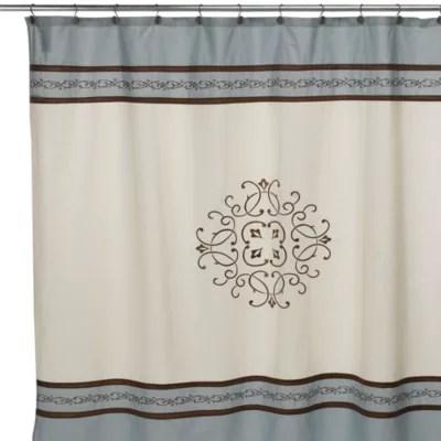 hotel collection landon shower curtain