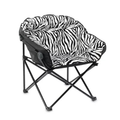 folding club chair bed bath beyond rustic kitchen tables and chairs idea nuova in zebra
