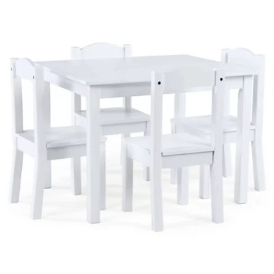 white table chairs officemax ergonomic chair sets buybuy baby tot tutors cambridge 5 piece set in