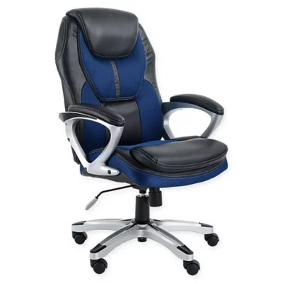 desk chair bed bath and beyond swivel leg tips serta works office