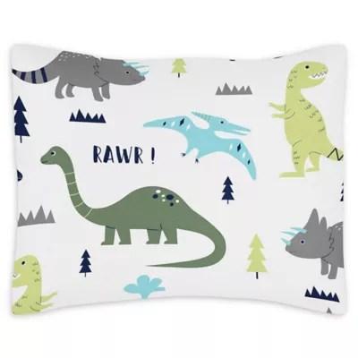 sweet jojo designs mod dinosaur reversible body pillowcase
