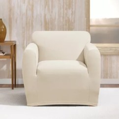 Sure Fit Chair Covers Bed Bath And Beyond Gaming Chairs Ps4 Stretch Morgan Box Cushion Cover In Ivory
