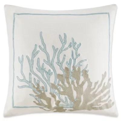 coastal throw pillows bed