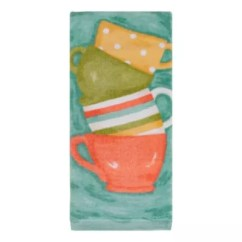 Towel For Kitchen Gadgets Towels Bed Bath And Beyond Canada Kitchensmart Colors Painterly Tea Cups Fiber Reactive In Surf