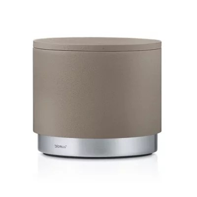 Buy Blomus Bathroom Storage Canister in Taupe from Bed