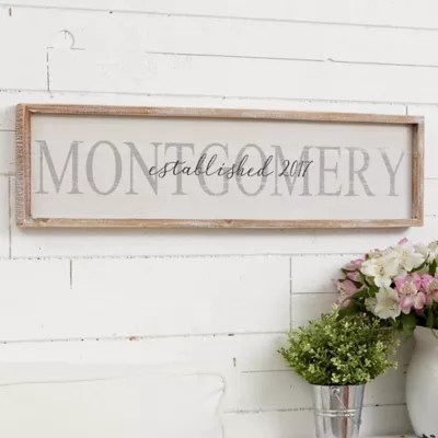 Family Name Long Barnwood Framed Wall Art Bed Bath Beyond