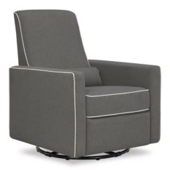Chair And A Half Glider Recliner Anatomy Design Construction Gliders Rockers Recliners Buybuy Baby Davinci Piper All Purpose Upholstered In Dark Grey With Cream Piping