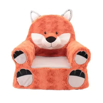 stuffed animal chair waterproof bean bag seating buybuy baby sweet seats plush fox in orange