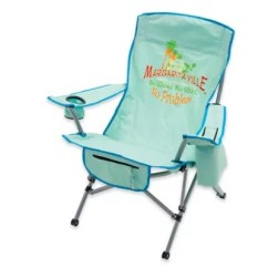 Folding Chair Green Metal And Leather Margaritaville Camp In Blue Bed Bath Beyond