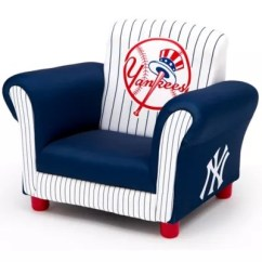 Childrens Upholstered Chairs Metal Dining Chair With Wood Seat Mlb New York Yankees Delta Children Kids Bed