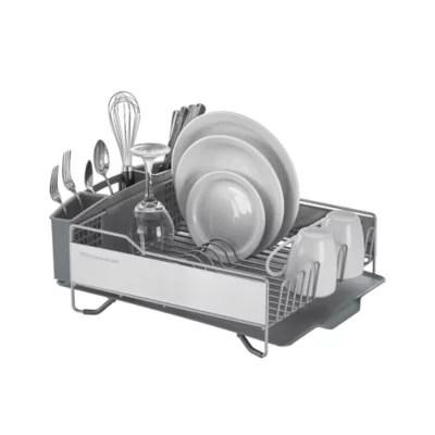 kitchenaid full size dish rack in light grey bed bath beyond