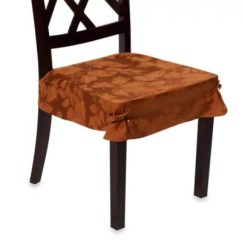 Chair Seat Covers Bed Bath And Beyond Folding At Walmart Autumn Harvest Dining Room Set Of 2 Bronze