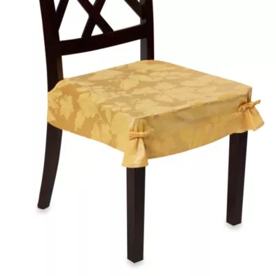 chair seat covers bed bath and beyond folding indiamart autumn harvest dining room set of 2 wheat