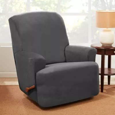 electric recliner chair covers australia restoration hardware office slipcovers dining room bed bath sure fit stretch suede slipcover