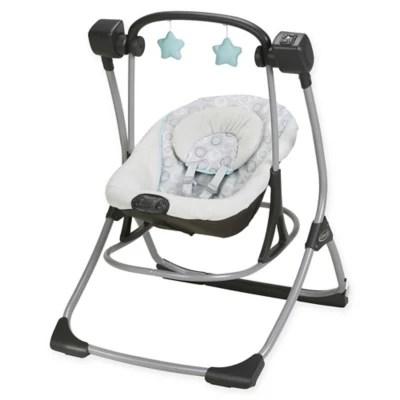 graco swing chair zebra best chairs ferdinand indiana shop baby infant buybuy cozy duet and rocker in tenley
