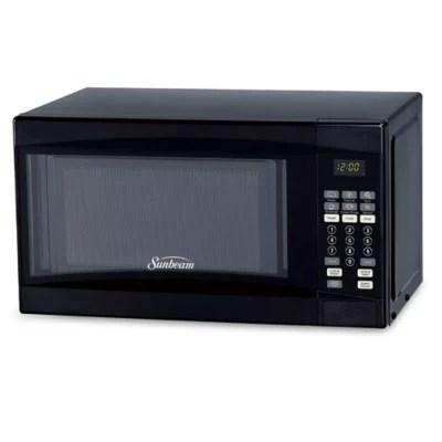 sunbeam 0 7 cu ft microwave oven in black