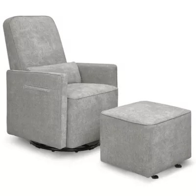 delta avery nursery glider chair grey oto massage price list sierra swivel buybuy baby davinci in heathered with gliding ottoman