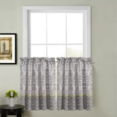 Kitchen Cafe Curtains Storage Jars Bath Bed Beyond Calais Window Curtain Tier Pair