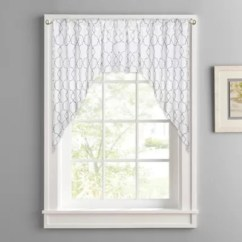 Kitchen Window Valance 19x33 Sink Valances Scarves Bed Bath And Beyond Canada Colordrift Mandy Rod Pocket Swag Pair