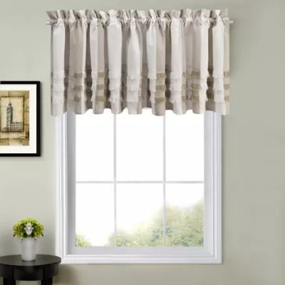 kitchen valance cabinets sizes valances bed bath beyond juliette window curtain