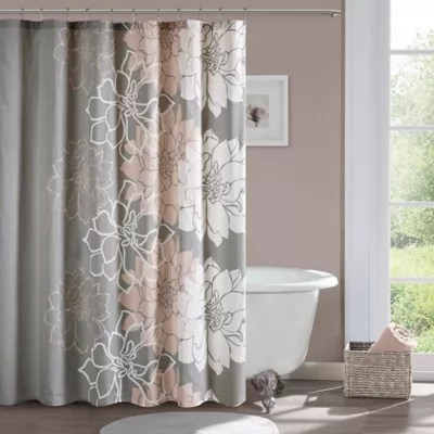 madison park lola shower curtain in blush bed bath beyond