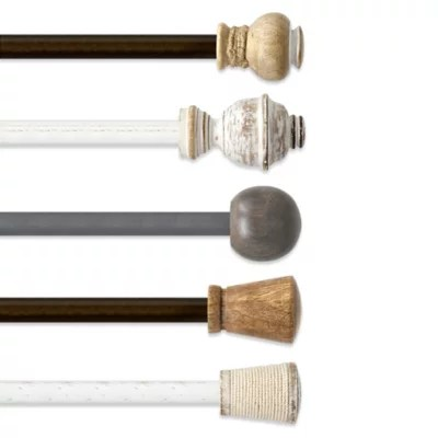 the farmhouse collection curtain rod hardware bed bath beyond