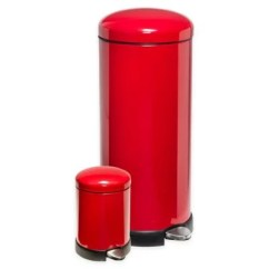 Red Kitchen Trash Can Aunt Jemima Curtains Bed Bath Beyond Honey Do Reg Round Soft Close 30 Liter And 3