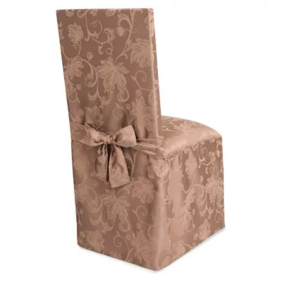christmas chair covers the range plastic desk dining room slipcovers seat bed bath beyond autumn vines cover