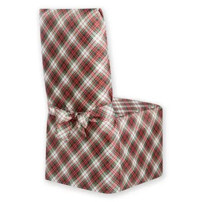 tartan dining chair covers for sale swing cad buy holiday plaid cover from bed bath & beyond