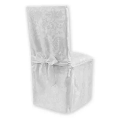 christmas chair covers the range stool cushions dining room slipcovers seat bed bath beyond holiday cheer damask cover