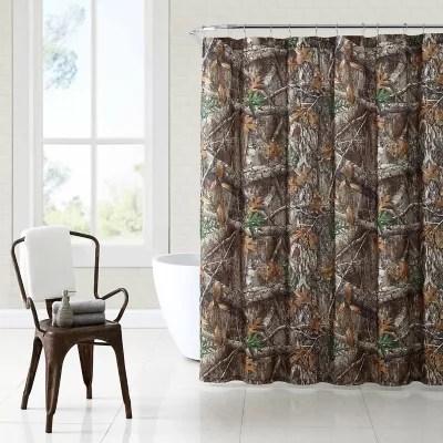 realtree edge 72 inch x 70 inch camo shower curtain