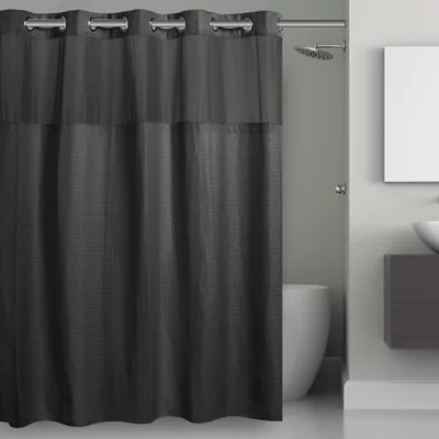 black bathroom shower curtains bed