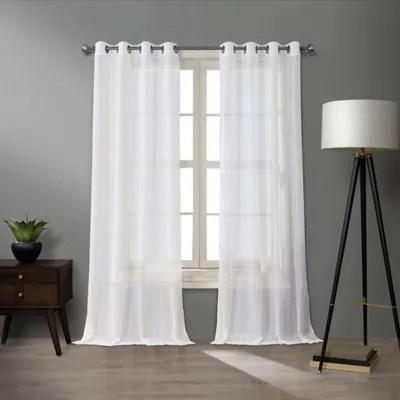 b smith origami light filtering grommet window curtain panel
