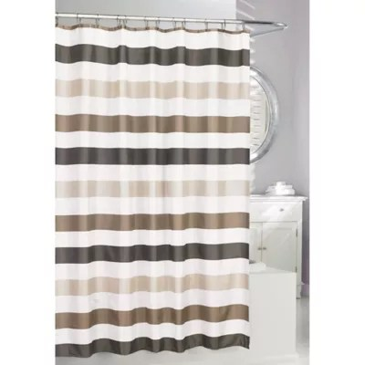modern black and white shower curtain