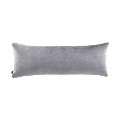 ugg dawson faux fur body pillow cover in charcoal