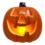 Jack-O-Lantern 11.5-Inch LED Halloween Decoration in Orange