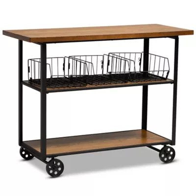 rustic microwave stand bed bath beyond