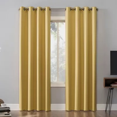yellow blackout curtains bed bath and
