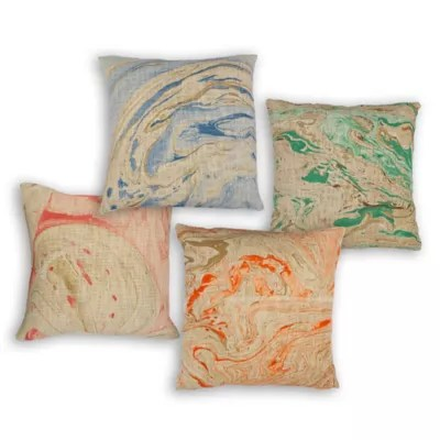 marble throw pillow bed bath beyond