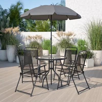 flash furniture 6 piece outdoor patio
