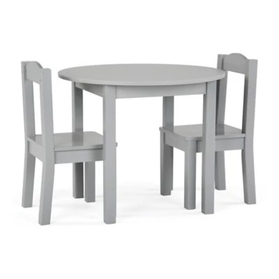 round table and chairs set recliner chair covers ireland sets buybuy baby tot tutors inspire 3 piece in grey