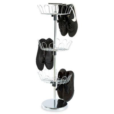 https www bedbathandbeyond com store product lavish home 3 tier revolving shoe rack in chrome 5215305