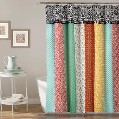 orange shower curtain bed bath beyond