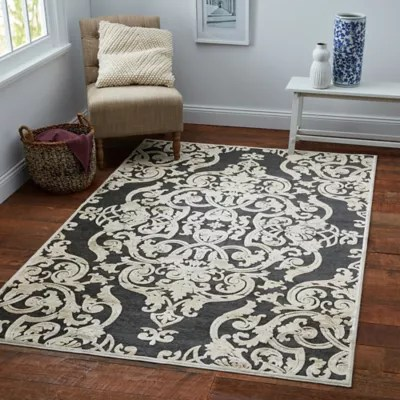 grey living room area rugs brown couch ideas bed bath beyond safavieh paradise damask rug