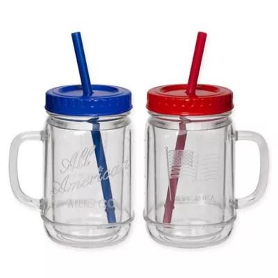 mason jars with handles